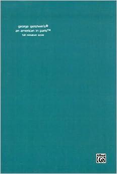 ガーシュイン: パリのアメリカ人/アルフレッド社/中型スコア