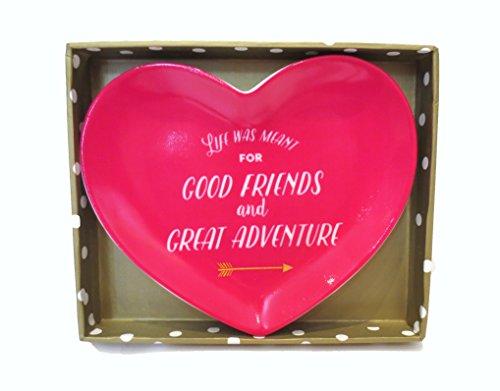 Twos Company Heart Shaped Trinket Tray,
