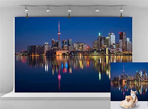 Fantasy Canada Toronto Backdrop Modern City Night Photography