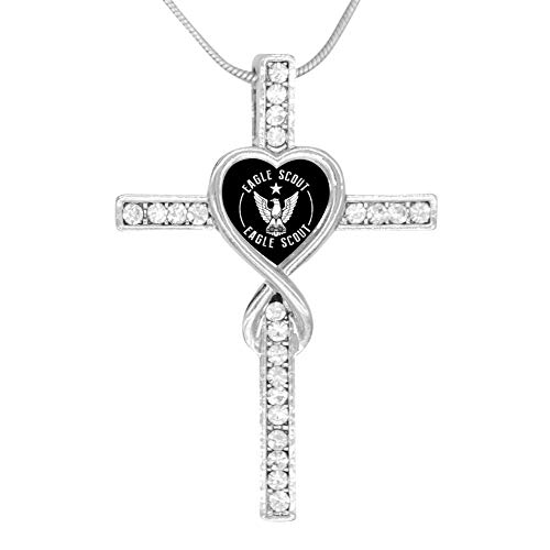 M100% Cross Love Heart Infinity God 3D Print Jewelry Eagle Scout Cross Pendant Necklace