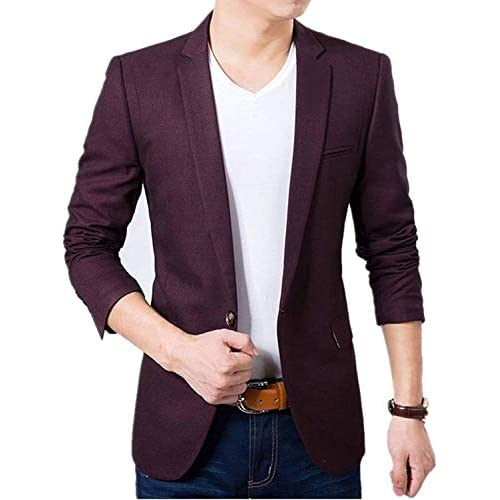 41Xm3cRET5L. SS500  - Creative concepts Men's Cotton Slim Fit Blazer (Wine, Large/40)
