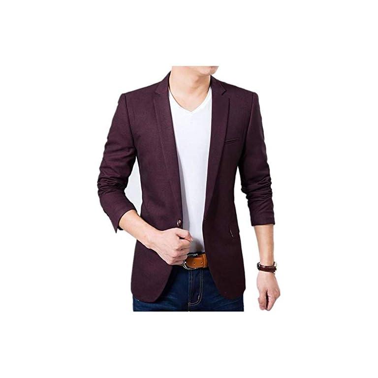41Xm3cRET5L. SS768  - Creative concepts Men's Cotton Slim Fit Blazer (Wine, Large/40)