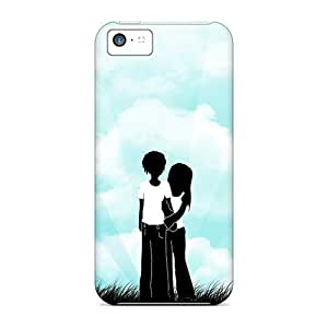 Protective Tpu Case With Fashion Design For Iphone 5c (cute Couple)