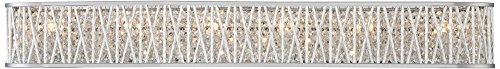"Possini Euro Woven Laser Cut 36"" Wide Chrome Bath Light"
