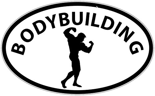 """Price comparison product image BODYBUILDING Oval Vinyl Decal - Full Color Printed - (size: 4"""") - for Windows,  Walls,  Bumpers,  Laptop,  Lockers,  etc."""