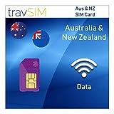travSIM Three UK Prepaid Australia & New Zealand SIM Card 5GB Data Valid for 30 Days - Free Roaming in 71+ Destination Countries Including Europe