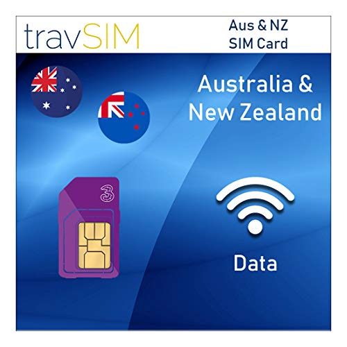 travSIM Three UK Prepaid Australia & New Zealand SIM Card 2GB Data Valid for 30 Days - Free Roaming in 71+ Destination Countries Including Europe