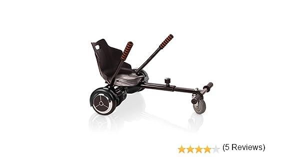 """Tango - HoverKart Silla Accesorio para Patinete Eléctrico Compatible con Hoverboard 6.5"""" y 10"""", Color Negro"""