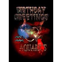 Gothic Aquarius -1/20 to 2/18 Air sign zodiac Birthday card