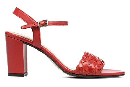 11sunshop - Sandalias de Vestir de Otra Piel Mujer Rojo