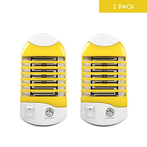 Mosquito Killer Lamp, Indoor Bug Zapper, Electronic Insect Killer Eliminates Most Flying Pests - 2 pack, Yellow color.1 year Warranty and Money - Return Warranty