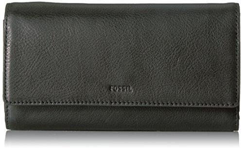 Fossil Emma RFID Flap Clutch, One Size - Black