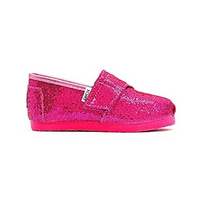 Toms - Tiny Classic Slip-On Shoes, Size: 4 M US Toddler, Color: Pink Wool Dot