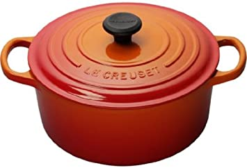 Le Creuset Signature Enameled Cast-Iron 9-Quart Round French Dutch Oven, Flame