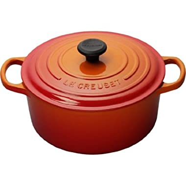 Le Creuset Signature Enameled Cast-Iron 2-Quart Round French (Dutch) Oven, Flame