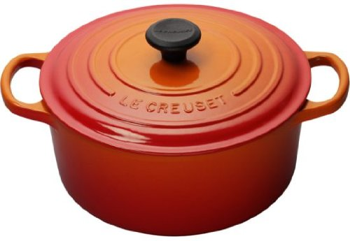 Le Creuset Signature Enameled Cast-Iron 9-Quart Round French (Dutch) Oven, Flame ()