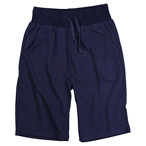 Blend Cotton Sweatpants (Urban Boundaries Mens Long Cotton Blend Elastic Jogger Gym Pocket Shorts (Navy, XX-Large))
