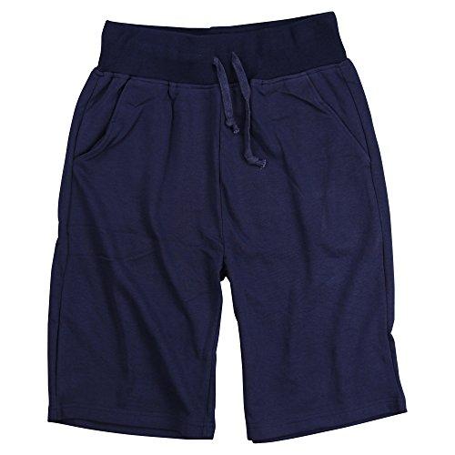 Long Inseam Shorts (Men's Cotton Blend Elastic Jogger Gym Pocket Shorts (11