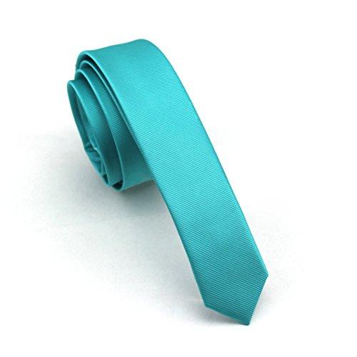 Elviros Mens Solid Color Eco-friendly Fashion Skinny Tie 1.6'' (4cm) Turki... by Elviros