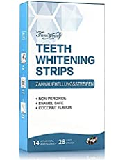 Teeth Whitening Strips, Professional Whitening Strip Kit with 3D Non-Slip Dental Teeth Whitener, Removes Stains & Freshens Breath with Coconut Oil, 14 Sets, 28 Whitestrips