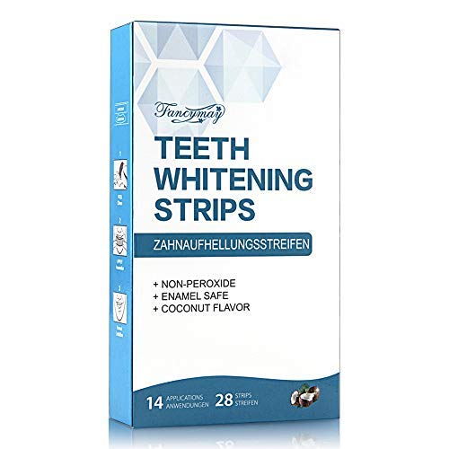 Teeth Whitening Strips, Professional Whitening Strip Kit with 3D Non-Slip Dental Teeth Whitener, Removes Stains & Freshens Breath with Coconut Oil, 14 Sets, 28 Whitestrips product image