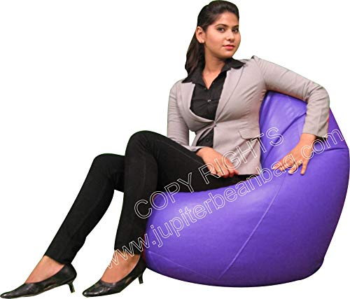 Zolo XL Bean Bag Without Beans   Cover Only   Purple