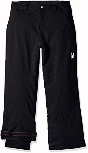 Spyder Girl's Vixen Ski Pant, Black, Size 08
