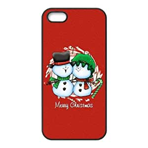 Snowman Merry Christmas iPhone 4 4s Cell Phone Case Black phone component RT_379975