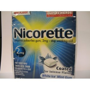 Nicorette 2mg Coated White Ice Mint - 100 ct, Pack of 6