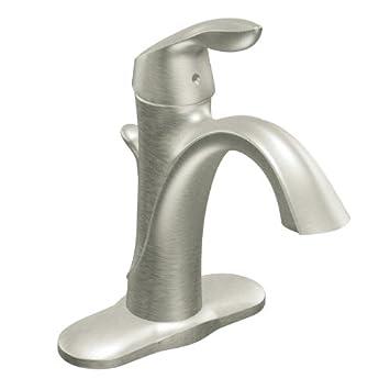 Moen 6400BN Eva One Handle High Arc Bathroom Faucet  Brushed Nickel. Moen 6400BN Eva One Handle High Arc Bathroom Faucet  Brushed