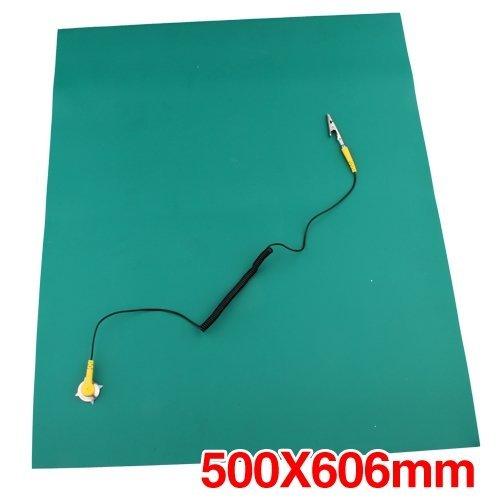 SODIAL (R) verde Desktop antistatico ESD Tappetini 500x606mm + Cord SODIAL(R) 016123