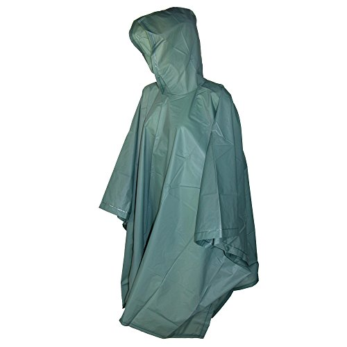 Totes Hooded Pullover Poncho Snaps