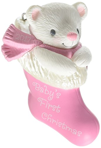 Hallmark Keepsake 2017 Baby Girl's First Christmas Dated Christmas Ornament