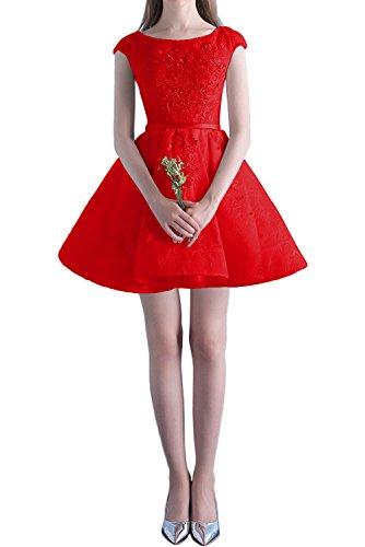 Kurzarm Mini Cocktailkleider Rot La Rosa Tanzenkleider Braut Festlichkleider Heimkehr Abendkleider Formal Spitze mia YOaIqOz
