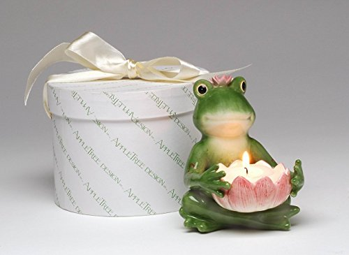 Cosmos Gifts Ceramic Frog Tealight Candle Holder 4