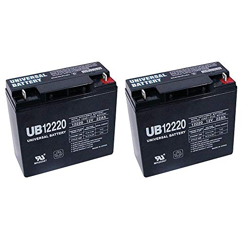 Universal Power UB12220 12 Volt 22 AmpH SLA Replacement Battery - 2 Pack ()