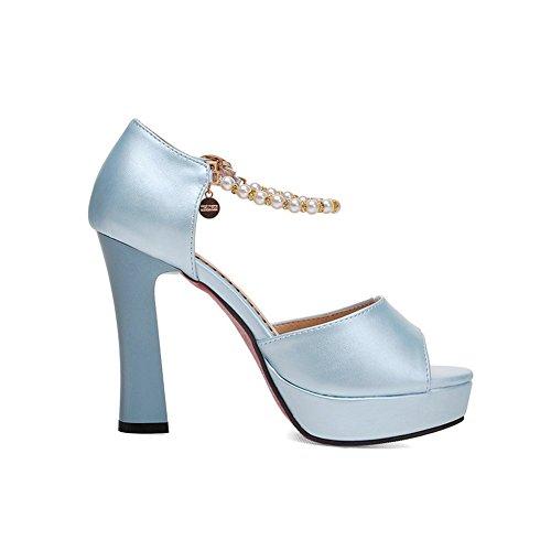 Adee high-heels de poliuretano Sandalias de cuentas para mujer Azul - azul