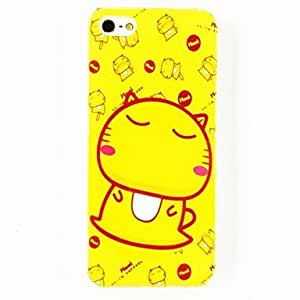 DUR Cute Cat Pattern Polycarbonate Hard Case for iPhone 5/5S , Multicolor