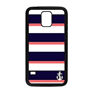 Nymeria 19 Customized Chevron Monogram Nautical Anchor Diy Design For Samsung Galaxy S5 Hard Back Cover Case DE-391