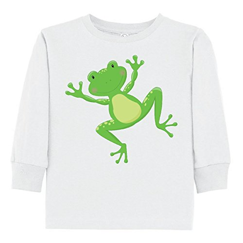 inktastic - Jumping Frog Toddler Long Sleeve T-Shirt 3T White -