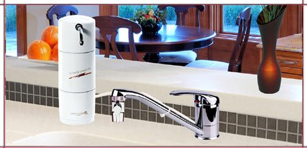 CRYSTAL QUEST® Countertop Disposable Single Nitrate Multi PLUS Water Filter System Caco3 Media