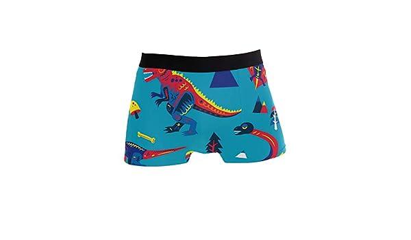 Mkuell Tyrannosaurus Comfortable Mens Boxer Briefs Multi-Size Soft Underwear S