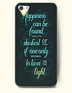 OOFIT iPhone 4/4s Case Happiness Can Be Found Even In The Darkest Of Times If One Only Remember