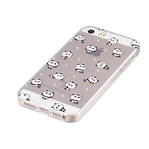 iPhone 5 5S / SE Hülle Kleiner Panda Premium Handy Tasche Schutz Transparent Schale Für Apple iPhone 5 5S / SE + Zwei Geschenk