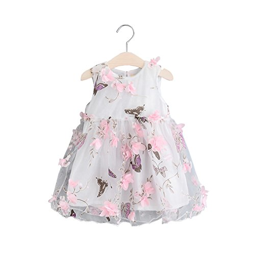 Mud Kingdom Cute Girls Dresses Fairy 3D Flower and Butterfly 2T -