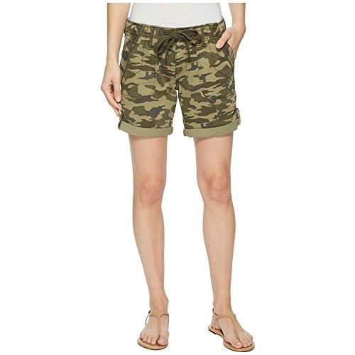 道驚いたことになめる(ジャグ ジーンズ) Jag Jeans Petite レディース ボトムス?パンツ ショートパンツ Petite Adeline Denim Shorts in Drab Green Camo [並行輸入品]