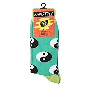 Oooh Yeah Men's Luxury Combed Cotton Crew Socks Yin Yang Fever