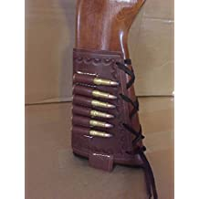 44 Mag & 45 Colt Caliber Rifle Buttstock Leather Cartridge Ammo Carrier
