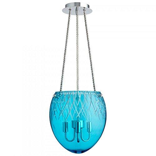 Cyan Designs 07639 3LT BLUE ETCHED PEND - CH Island Pend