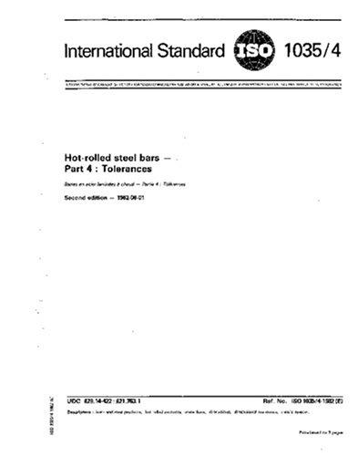 ISO 1035-4:1982, Hot-rolled steel bars - Part 4 : Tolerances ebook